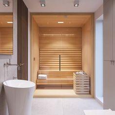 Villa Interior, Spa Interior, Bathroom Interior Design, Modern Interior Design, Sauna Steam Room, Sauna Room, Basement Sauna, Bathroom Spa, Modern Bathroom