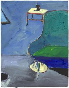 Richard Diebenkorn (American - Interior Green with Chair 1964 - Gouache on Paper cm Richard Diebenkorn, Abstract Expressionism, Abstract Art, Arthur Dove, Bay Area Figurative Movement, Robert Rauschenberg, Jasper Johns, Wayne Thiebaud, Helen Frankenthaler