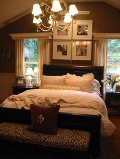 Our master bed is nearly identical to this. Going a different direction style wise, but I really like the framed drapery.