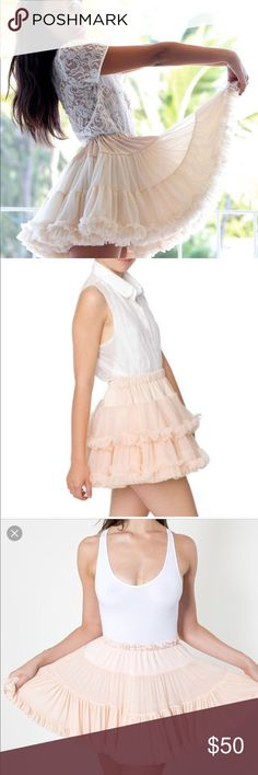 AMERICAN APPAREL PINK TUTU Perfect condition ballet pink color tutu!ONE SIZE FITS ALL American Apparel Skirts