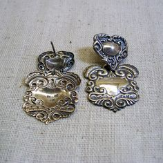 Vintage Victorian Luggage Tag Style Sterling Silver by PandPF