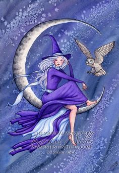 "Magick Wicca Witch Witchcraft:  #Witch ~ ""Starry Night,"" by kirstinmills, at deviantART."