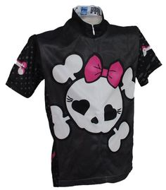 Girls' Cycling Jerseys - Rocky Mountain Rags Childrens Punk Power Cycling Jersey >>> Visit the image link more details.