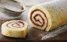 Strawberry and Mascarpone Swiss Roll Recipe by Lorraine Pascale : Food Network UK