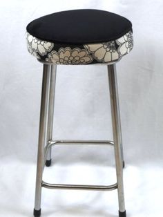 Black/cream Florence Broadhurst stool