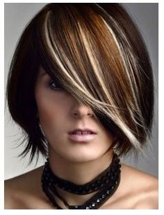 Killer highlights, darling cut. Inspired yet again by another short do!