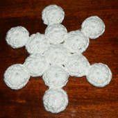 Snowflake bottle cap pot holder/trivet