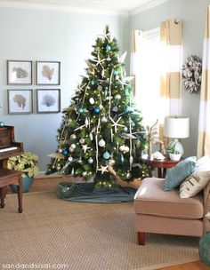 Beautiful Coastal Christmas Home Tour!
