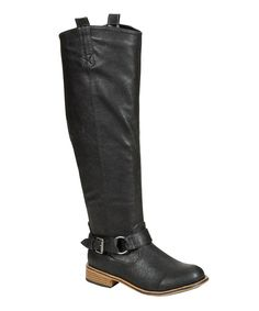 Take a look at this Black Parksville Buckle Boot on zulily today!