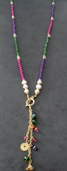 Colorful Necklace with Swarovski Items and by SwedishShop on Etsy, $9.90