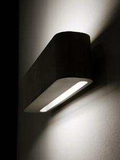 Cement wall lamp LUCE10 by Moab 80 design Paolo Zani, Studio Moab