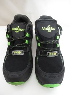 5aa85c3e9b5 Details about Nautilus Steel Toes Shoes Color Green And Black Size 6.5 M  Women s