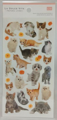 Cat Stickers 10941 by SweetSuppliesStore on Etsy