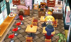 Animal Crossing: Happy Home Designer  The town's new cafe is here! Lots of brown/earthy tones. :)
