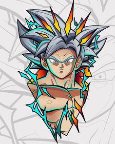 Avengers Cartoon, Anime Tattoos, Son Goku, Love Tattoos, Manga, Sketchbooks, Dbz, Dragon Ball Z, Chibi