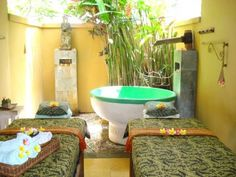 Such a cool space for massage.  Reminds me of the Alvadora Spa at the Royal Palms Resort in Phoenix, AZ.