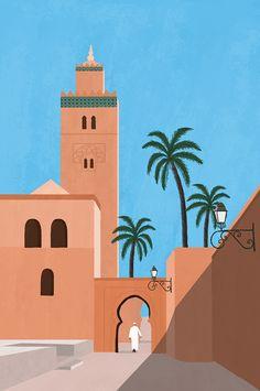 Minimalist Wallpaper, Minimalist Art, Arte Judaica, Moroccan Art, Guache, Arabic Art, New Wall, Islamic Art, Graphic Illustration