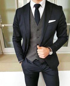 Suits for slim people #MensFashionFormal