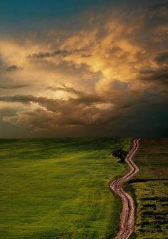 """makes me wanna take a back road, makes me wanna take the long way home."""