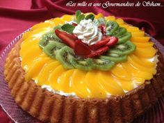 Tarte renversée aux fruits, crème mascarpone - citron ! -