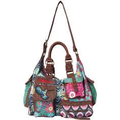 Desigual bag London Kaitlin brown found on Polyvore - This is a very close match to the one I have <3