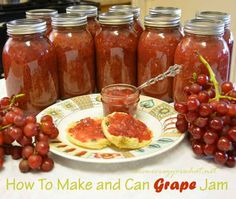 How to Make and Can Grape Jam Recipe » The Homestead Survival