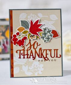 So Thankful For You Card by Betsy Veldman for Papertrey Ink (August 2016)