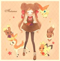 Pokémon - Mei - Victini, Evoli, Pichu, Flemmli, Sesokitz, Haspiror