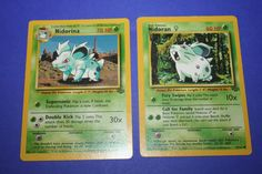 2 Pokemon Cards - Nidoran and Nidorina by LiveLoveCraftDesignz on Etsy Pokemon Cards, Unique Jewelry, Handmade Gifts, Etsy, Art, Craft Gifts, Hand Made Gifts, Pokemon Trading Card, Homemade Gifts
