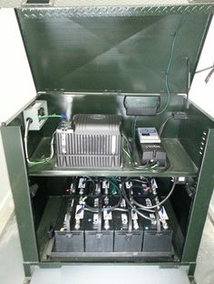 Battery bank and inverter