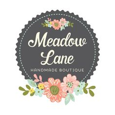 Premade Logo - Floral Chalkboard Logo Design - Customized with Your Business Name!