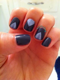 Gray and purple #maybelline #triaccent #leighannsays @Leigh Ann #nails #mani