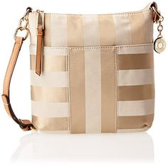 Tommy Hilfiger Signature Rugby Stripe Jacquard Travel Tote, Khaki Tonal, One Size | Women's Handbags & Wallets