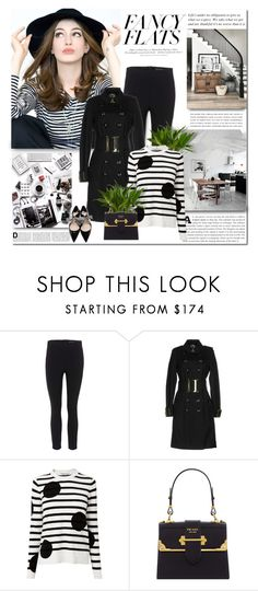 """""""Magic Slippers: Fancy Flats"""" by lilly-2711 ❤ liked on Polyvore featuring rag & bone, Kerr®, Burberry, L.K.Bennett, Prada and H&M"""