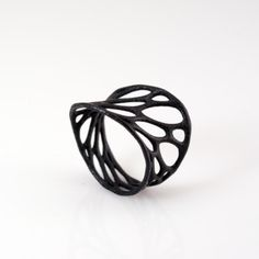 Wing.  #black #ring #delicate