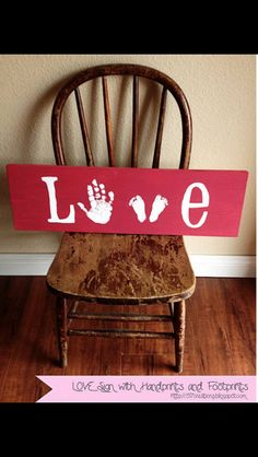 Cute idea for hand/ foot print keep sakes