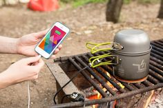 The Power Pot: A Fire Powered USB Charger - The Photojojo Store!
