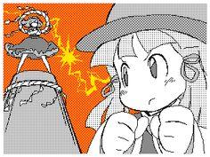 I love this - Suwako Moriya - Kanako Yasaka - Touhou - Touhou 10 - Gud art - favorite characters - gif