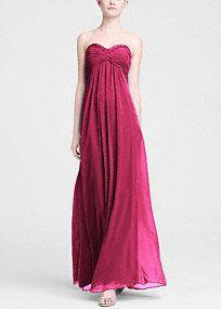 Long Bridesmaid Dresses - David's Bridal - in Pool