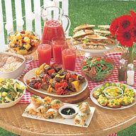 backyard beach party menu/plans