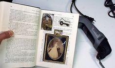 Leave a secret in a book.