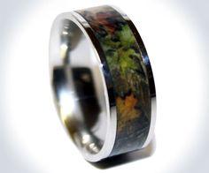 Camo Titanium Ring   DudeIWantThat.com