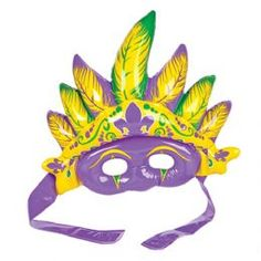 Mardi Gras Inflatable Mask, Mouth Inflated, Beautiful Inflatable Feathers rise above the mask, Includes adjustable velcro strap to attach to the head, A great rio carnival themed fancy dress accessory! Carnival Themed Party, Rio Carnival, Party Themes, Fancy Dress Masks, Fancy Dress Up, Childrens Fancy Dress, Beach Party Outfits, Fancy Dress Accessories, Fiesta Party