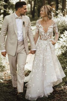 The Most Popular Groom Suits ★ groom light jacket with bow tie country iay iamyours Spaghetti Strap V Neck Beach Wedding Dresses Backless Ivory Tulle Wedding Dress Linen Wedding Suit, Wedding Linens, Tan Tuxedo Wedding, Tan Suits For Wedding, Beach Wedding Groom Attire, Tuxes For Weddings, Casual Wedding Groom, Ivory Tuxedo, Summer Weddings