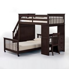 I want this for the girls. But in white and a full size bottom bunk.