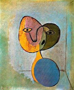 """artist-picasso: """"Portrait of woman via Pablo Picasso Size: cm Medium: oil on canvas"""" Kunst Picasso, Art Picasso, Picasso Paintings, Cubist Movement, Georges Braque, Spanish Painters, Art Moderne, Painting & Drawing, Drawings"""