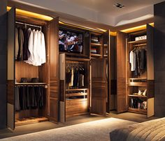 Built in wardrobe. I like this better than closets.