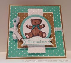 South Shore Stamping: Baby Congratulations - TSSC338 -Stampin' Up! Card by Emily Mark SU demo Greenfield Park, Quebec www.southshorestamping.com