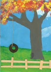 Tire swing for fun in the spring