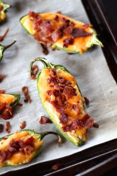Stuffed Jalapenos with Bacon and Cheddar